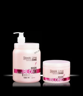 "Silk hair mask ""SLEEK LINE"" BLUSH BLOND"
